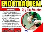 Curso taller de intubación endotraqueal: 20 y 21 de setiembre
