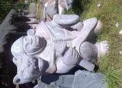 Escultura en piedra andesita