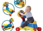 Activity car 123 marca vtech baby 3 en 1: cochecito balancín y panel de actividades
