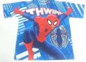 Polo spiderman marvel original niños tallas 2, 3, 4, 6, 8, 10 y 12