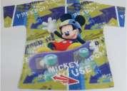 Polo mickey mouse original tallas: 2, 3, 4, 6, 8, 10 y 12