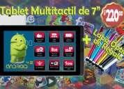 Vendo tablet multitactil de 7´´. 8gb, android 4.2, doble cámara. nuevo sellado!!!