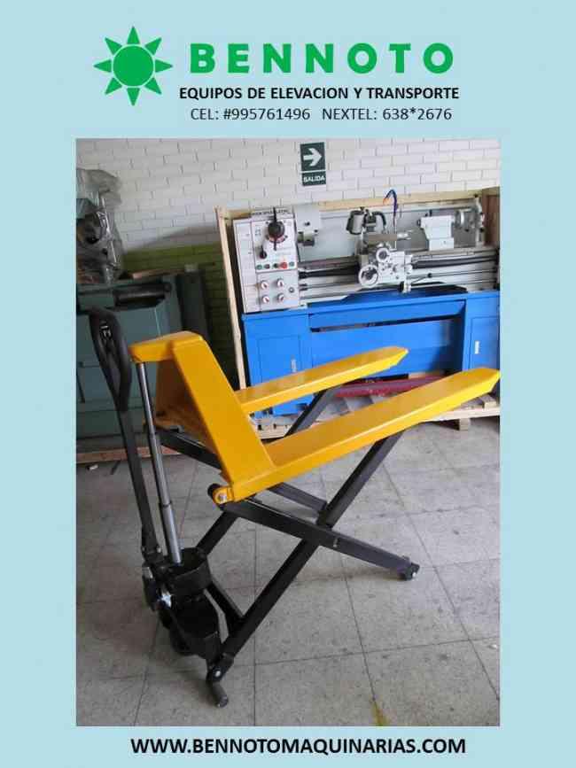 Venta de estocas y mesas hidráulicas Bennoto