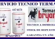 Servicio tecnico termas bryant