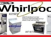 Servicio tecnico whirlpool lavadoras cocinas 447 6173