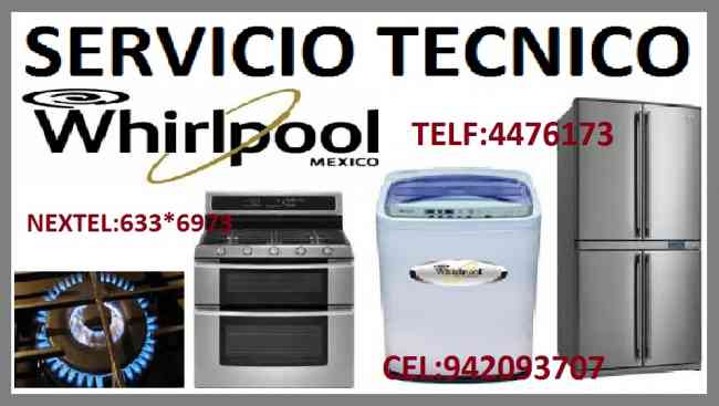 Cocina whirlpool servicio tecnico