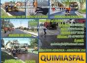 Calidad- garantia - experiencia en asfaltos quimiasfal