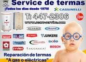 ¿su terma se malogro? 447-2306 /servicio tecnico de termas ((junkers-sole??