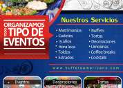 Eventos – buffets – catering – matrimonios - buffets americano  - eventos en general - sjl