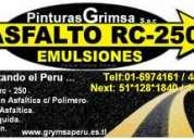 Vendo asfalto liquido rc-250 nuevo   de calidad