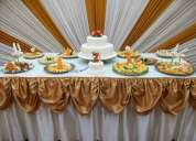Catering, buffets, comida criolla, bocaditos, mozos, menaje, todo para matrimonio, cumpleaños, aniv
