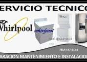 Servicio tecnico whirlpool lavadoras secadoras