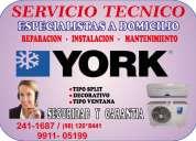 Servicio técnico   york      instalación de aire acondicionado 9911- 05199