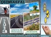 A la venta emulsion asfaltica rotura rapida y lenta