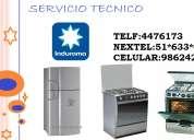 Servicio tecnico indurama refrigeradora 51*633*6973