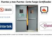 Puertas antipanicas certificadas