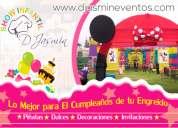 Fiestas infantiles – cumpleaÑos – decoraciones – djasmin eventos