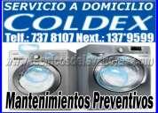 Mantenimiento preventivo de lavadoras coldex a domicilio