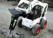 Alquilo mini cargadores  con pala o martillo demoledor