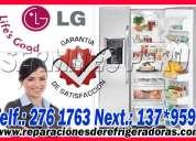Servicio tecnico de refrigeradoras y cocinas lg  a domicilio 7378107