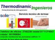 Reparacion y mantenimiento de termas electricas y termas  a gas rotoplas, khor, bosh 3740239