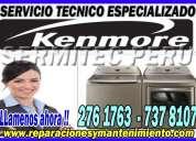 Servicio tecnico kenmore (lavadoras) 981091335 reparaciones y mantenimiento