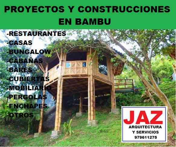 PROYECTOS Y CONSTRUCCIONES EN BAMBU, CASAS, RESTAURANTES, CENTROS RECREACIONALES, HOTELES, BUNGALOWS