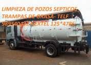 Transporte de aguas residuales  succión de aguas residuales camión cisterna  telf 7259443