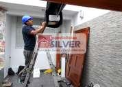 Fabricación e instalación de puertas levadizas seccionales cercos eléctricos