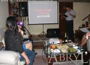 Karaoke para cumpleaños, reuniones, despedidas, fiestas y eventos.