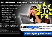 servicio tecnico (reparacion) de computadoras laptops trujillo