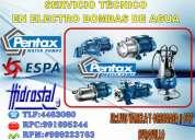 Reparacion y  mantenimiento de bombas pentax san isidro