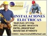 Electricista a domicilio lima,san luis. salamanca 991473178
