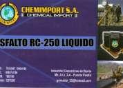 Venta de asfaltos rc-250 para el sector minero, automotriz, energetico y construccion chemimport s.a