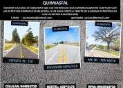 Ocasion asfaltos de alta calidad llamenos somos quimiasfal