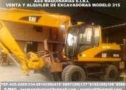 Excavadoras sobre llantas neumaticas en alquiler venta 994150807
