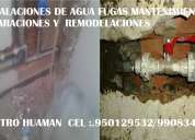 Gasfitero especialista en desatoros,filtraciones,fugas de agua instalaciones etc trabajo a domicilio