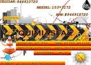 Quimiasfal ventas de pinturas asfalticas amarillo-blanco