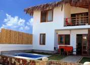 Hermosa casa equipada frente al mar – playa los Órganos