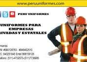 Fabricamos uniformes industriales .