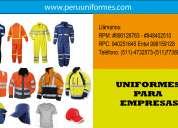 Exportación y comercialización de uniformes industriales